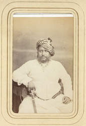 BALASINOR: Jorav'var Khan, Nawab of Balasinor (1827-1882).